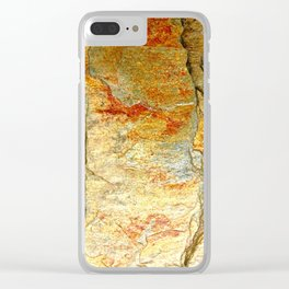 Stone Gold Clear iPhone Case