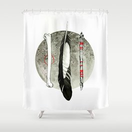 Earth, Air and Flesh Shower Curtain