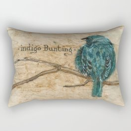 Indigo Bunting Rectangular Pillow
