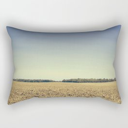 Lonely Field in Blue Rectangular Pillow