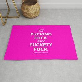 Fucking Fuck Fuck Fuckety Fuck- Pink Rug