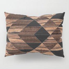 Urban Tribal Pattern No.11 - Aztec - Wood Pillow Sham
