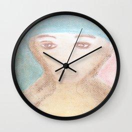 Spiritual Chalks Drawing of Mother Teresa of Calcutta, India Wall Clock