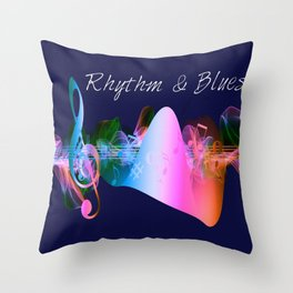 Rhythm & Blues Throw Pillow