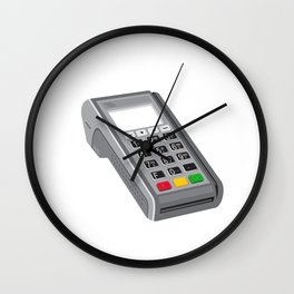 Point of Sale POS Terminal Retro Wall Clock