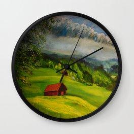 Field In Switzerland Wall Clock