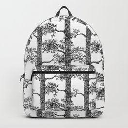 Pine Forest (Black and White) Backpack