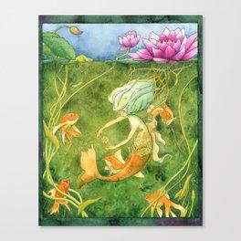 Treasures of the Lotus Nymph Canvas Print