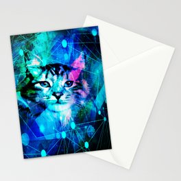Kitty Cat Laser Lights at the Aleurorave Stationery Cards