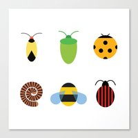 bugs Canvas Prints featuring Bugs by Stephen Cheetham