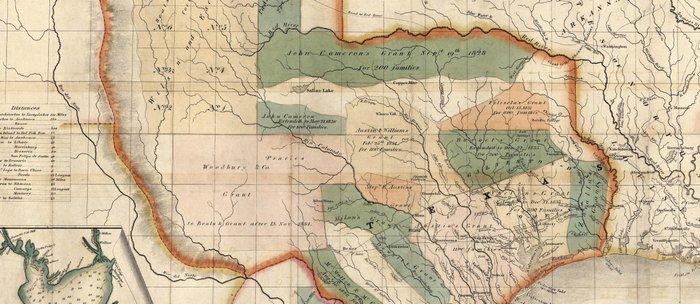 Map Of Texas 1835.Vintage Map Of Texas 1835 Coffee Mug