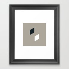 #85 A hint of cubes – Geometry Daily Framed Art Print
