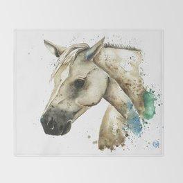 Palomino Horse - Sundance Throw Blanket