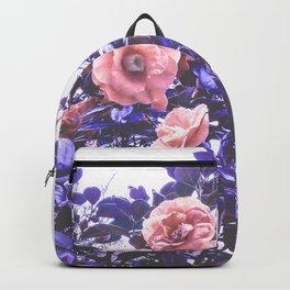 Wild Roses - Ultra Violet and Coral #decor #floral #buyart Backpack