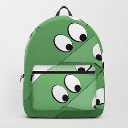 Green eating monsters design Backpack