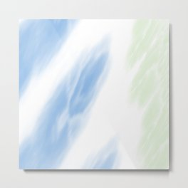 Blue Mint Tie Dye Abstract Metal Print