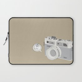 """Yashica Camera - """"Say Cheese"""" - soft-brown Laptop Sleeve"""
