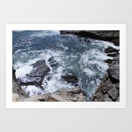 Rough waters 3 Art Print