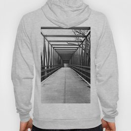 Bridge to Nowhere Black and White Photography Hoody