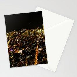New York City Skyscraper Skyline Landscape Painting by Jeanpaul Ferro Stationery Cards