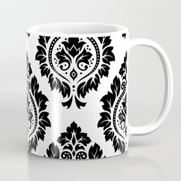 Decorative Damask Art I Black on White Coffee Mug