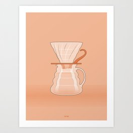 Coffee Maker Series - Pour-over Dripper Art Print