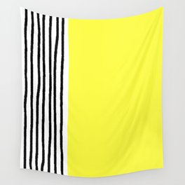 Stripes & Rays Of Sunshine Yellow Wall Tapestry