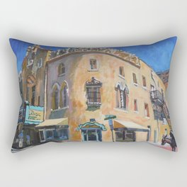 Lensic Theater and Burro, Santa Fe Rectangular Pillow