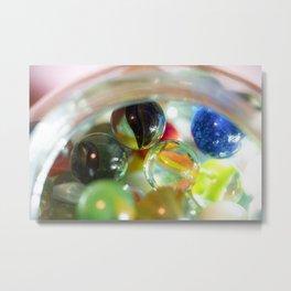Vintage Glass Marbles 17 Metal Print