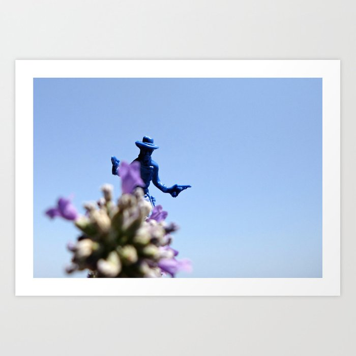 Lavender Sky Rider Art Print