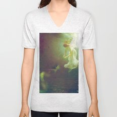 The angel and the mermaid Unisex V-Neck