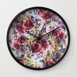 Bloodflowers Wall Clock