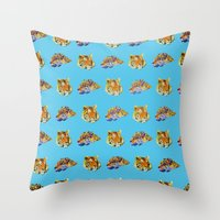 tigers Throw Pillows featuring Tigers by Nahal