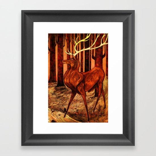 La Majesté du Cerf (The Proud Stag) Framed Art Print