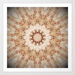 Decorative Marble Mandala Abstract Art Print