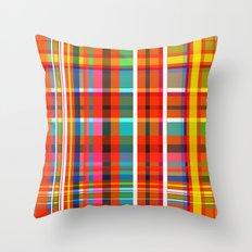 Madras Bright Check Throw Pillow