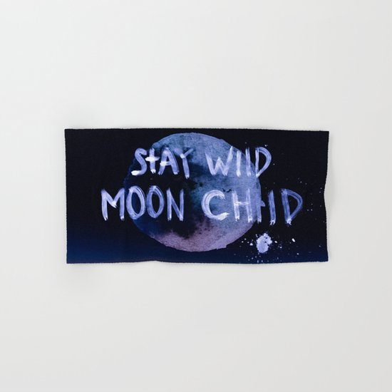 Stay wild moon child (purple) Hand & Bath Towel