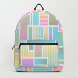 color blocks abstract background Backpack
