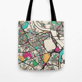 Colorful City Maps: Arlington County, Virginia Tote Bag