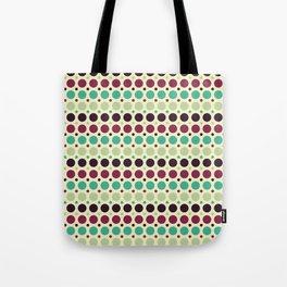 Peacock Polka Dot Pattern Tote Bag
