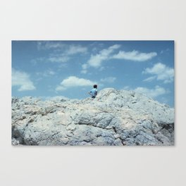 MEN IN BLUE Canvas Print