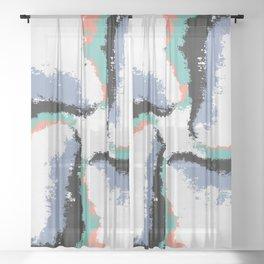 Flying Cross Sheer Curtain