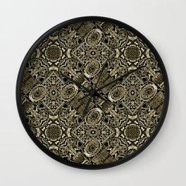 Steampunk Pattern Print Wall Clock