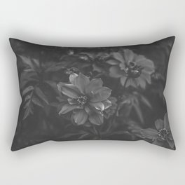 Floral (Black and White) Rectangular Pillow