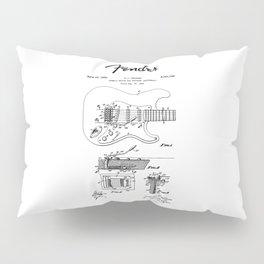 Guitar Tremolo Patent Black Pillow Sham