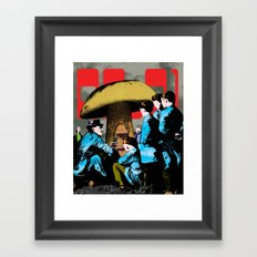 Magic mushroom Framed Art Print