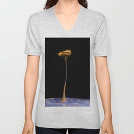 Abstract Flower 3 Unisex V-Neck