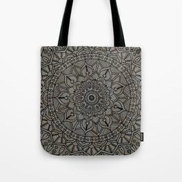 Circle of Life Mandala Brown and Blue Tote Bag