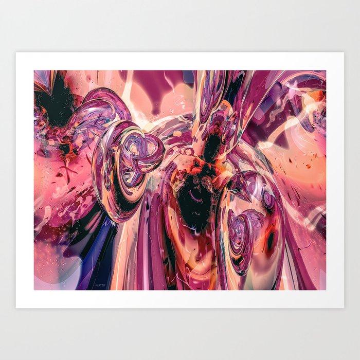 Lavender Meets Peach Art Print