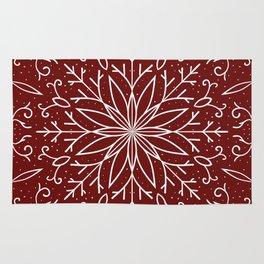 Single Snowflake - dark red Rug